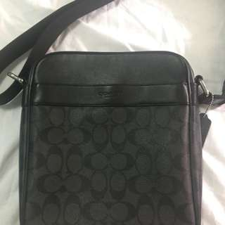 Coach Men's Flight Bag in Signature Black (Slightly Used)