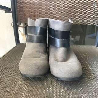 Zara Grey Ankle Boots