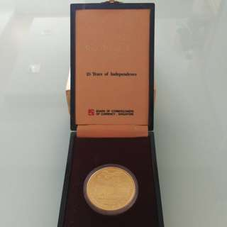 1990 $250 Gold Coin Proof (25 years of Independence)
