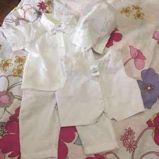 Baby baptismal attire