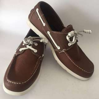 Men's Brown Leather Boat Shoes