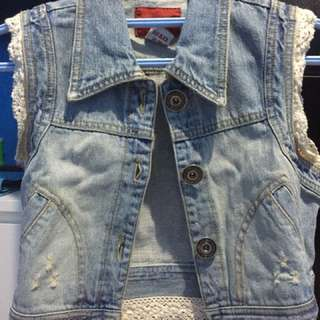 [Preloved] Outer (Rompi) Denim Jeans