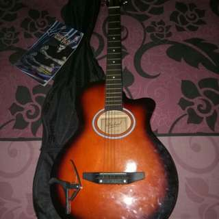 GUITAR SET W/ CASE CAPO AND SONG HITS