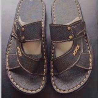 Men's Leather Slip-on Sandals
