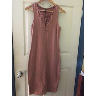 Lace up midi size S