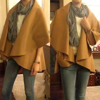 A|X Armani Exchange felt jacket/poncho