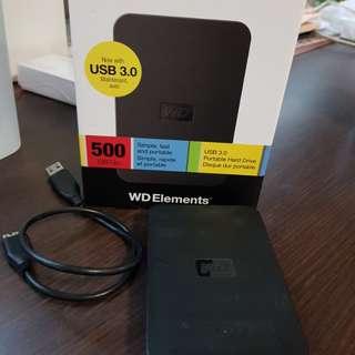 Western Digital 500GB External HDD