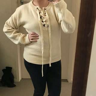 New Lioness cream jumper