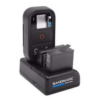 SANDMARC Procharge: Triple Charger for GoPro Hero 6, Hero 5, 4 and Smart (Wifi) Remote