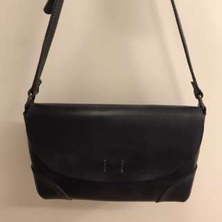 Grey pure Crossbody leather bag For Let Go!!