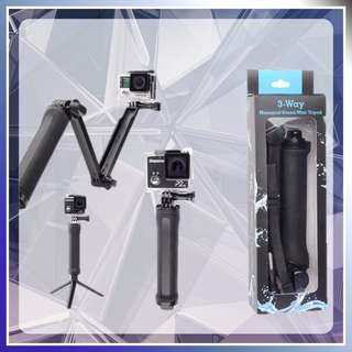 3 WAY MONOPOD MINI TRIPOD STAND FOR ACTION CAM SJCAM GOPRO