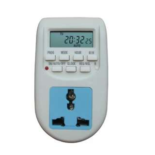 Digital timer plug (automated programme on/off for electrical appliances)