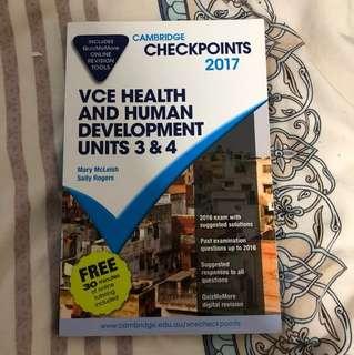 VCE health & human development unit 3&4