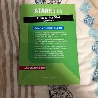 Atar notes HHD unit 3&4