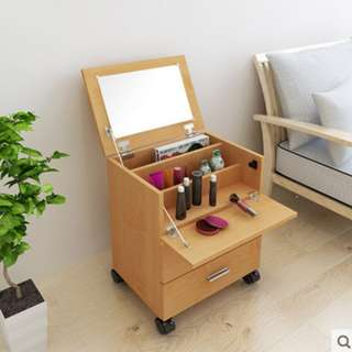 Make up Box and Movable Side Table in One