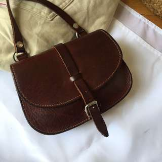 Brown Leather bags bought from Paris