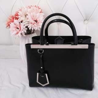 Preloved Fendi 2 Jours Black Patent Leather
