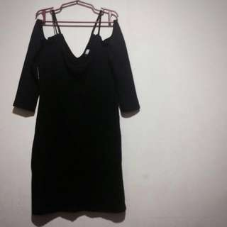 H&M Black Off Should Dress