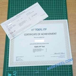 Jasa Pembuatan Sertifikat Toefl ITP, PBT, IELTS Se- Indonesia Asli Original 100%
