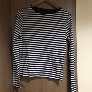 Topshop Striped Long Sleeves