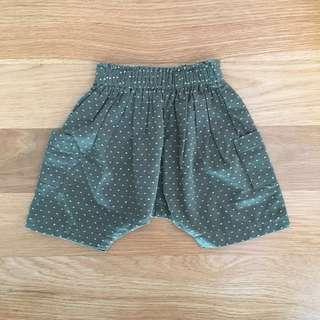 Whimsigirl unisex Petra shorts (Forest)