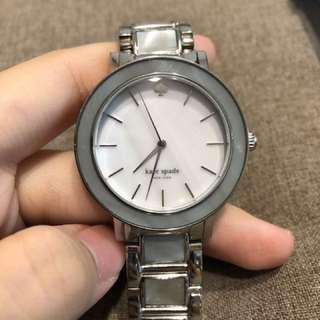🚚 全新 KateSpade 超美淡藍色 貝殼邊 女用鍊錶