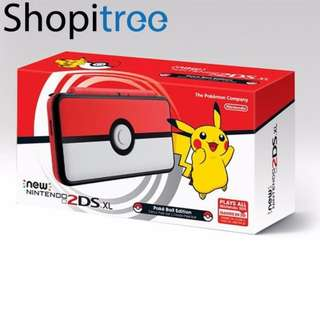 (Brand New) New 2DS XL Console Pokeball Edition + 1 Pre-selected Game