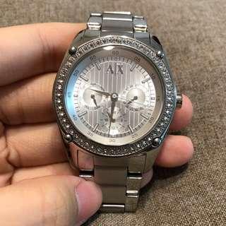 🚚 近全新!AX ArmaniExchange 女用鍊錶