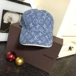 Louis Vuitton Denim Monogram Cap