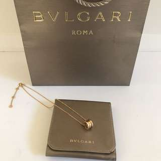 Authentic Bulgari 18k rose gold bzero1 necklace