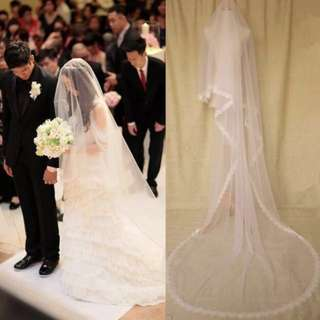 Cathedral Wedding Veil - soft fabric