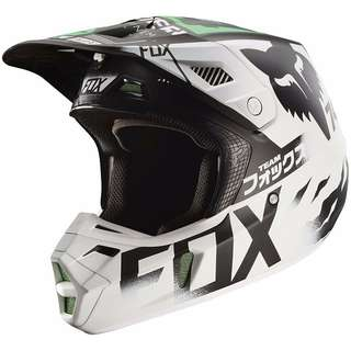 2017 Fox Racing V2 Union Monster Pro Circuit Helmet-2XL XXL XX-Large  Motorcycle Motorbike Motor cross Off Road Dirt Bike e Scooter eScooter eBike e Bike Helmet