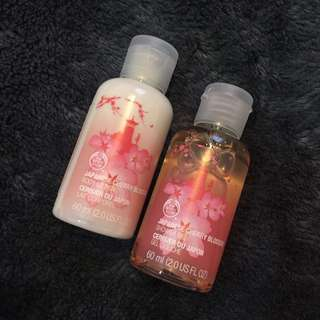 The Body Shop Japanese Cherry Blossom shower gel & body lotion