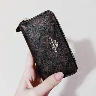 Coach coins bag zip wallet
