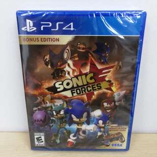 (Brand New) PS4 Sonic Forces with Bonus Controller Skin and DLC