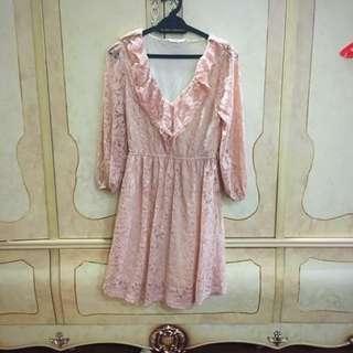 Kitschen Pink Lace Blouse