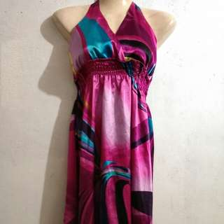 Halter Silk Dress