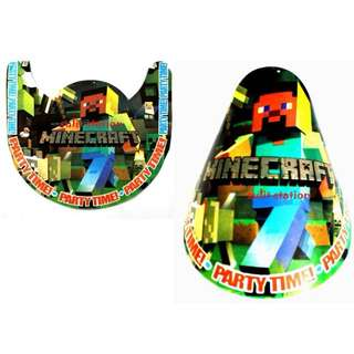 MINECRAFT PARTY HATS