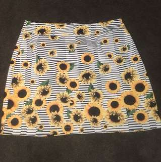 Neon Hart skirt Size S
