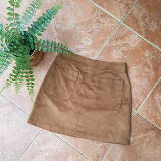 Forever new brown suede skirt