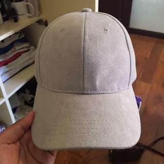 GRAY SUEDE CAP