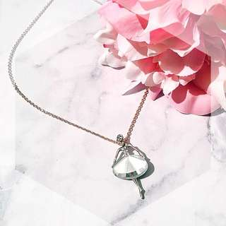 Ballerina crystal pendant necklace