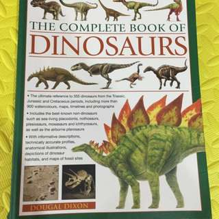 The complete book of Dinosaurs 256 pages