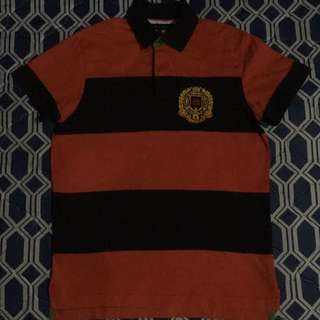 Tommy Hilfiger Black/Red Poloshirt