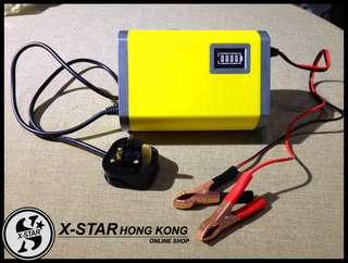 1630146 汽車電瓶充電器 便攜蓄電池智能充電器12V6A 包郵