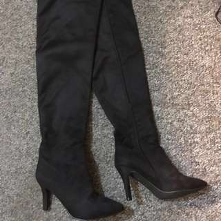 Thigh high suede boots size 37