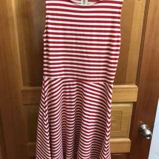 二手衣服出清*NET無袖紅白洋裝