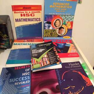 HSC textbooks and Yr 9-10 textbook