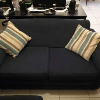 2x Two Seater sofas with Ottoman