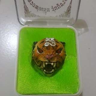 Tiger Amulet With Tarkut. Wat Bang Phra.